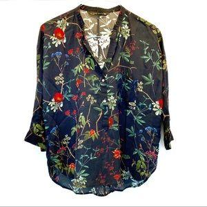 Zara Floral Blouse Large